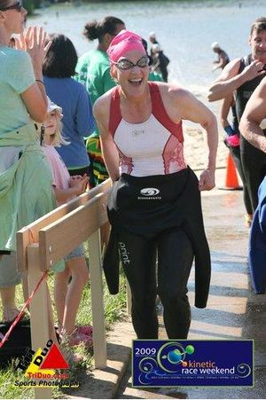 "Anne Giles Clelland's get ""transparent"" at the Kinetic Sprint Triathlon"